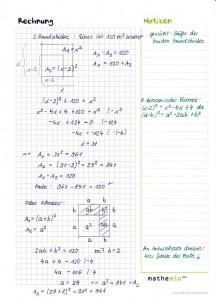 Binomische Formeln Anwendungsaufgabe