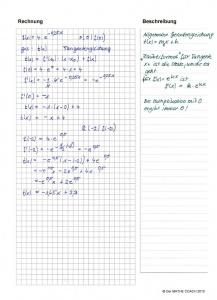 Tangentengleichung bei e-Funktion